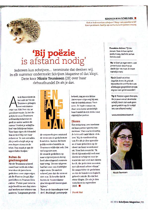 interview Schrijven Magazine